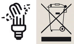 Eine zerbrochene Energiesparlampe ist nicht nur eine Gefahr für die Umwelt, sondern auch für die Gesundheit.