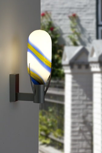 Mundgeblasene designer Wandlampe von Otto Zern