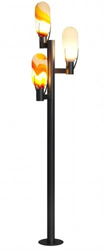 Dreiflammige designer glas lampe für den aussenbereich