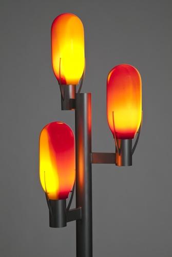 Dreiarmige designer glaslampe von otto zern
