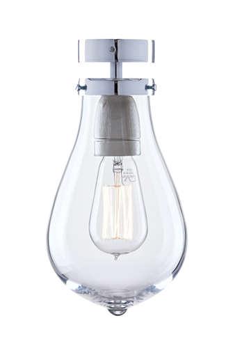 Verchromte Wandlampe Bombilla designt von Elfriede von Donnersmarck und Otto Tern