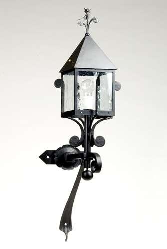 handgefertigte geschmiedete Auslegerlampe für Haus und Garten