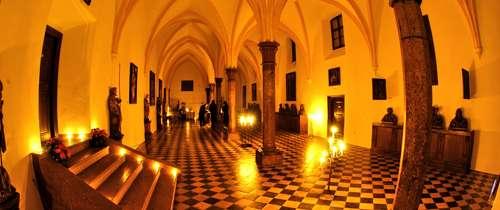 Die gotische Halle im Schloss berchtesgaden
