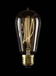Kohlefadenlampe Edison mit mundgeblasener Spitze