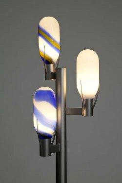 mundgeblasene decken wand und standleuchten aus überfangglass von otto zern als sonderanfertigung und unikate gefertigt