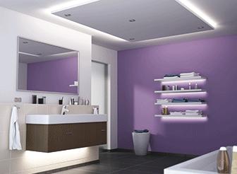 Viele Kennen Aus Dem Badezimmer Nur Einzeln Montierte Leuchtstoffröhren,  Die über Oder Auf Den Seiten Des Spiegels Hängen. Dabei Sind Diese Für  Einen Raum ...
